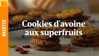 Cookies d'avoines aux superfruits