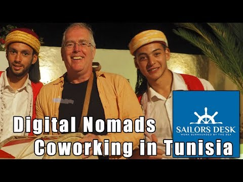 Sailors Desk in Kerkennah Tunisia for Digital Nomads