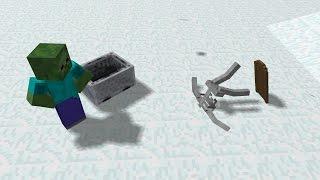 Monster School: Winter Challenge - Minecraft Animation