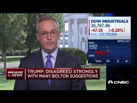 Trump says he fired John Bolton as national security adviser