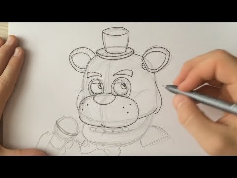 How to Draw Lefty Head ( FNaF 6 ) - Live