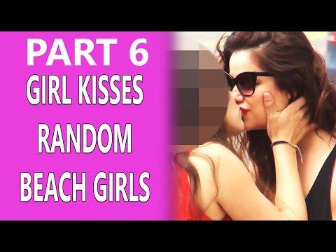 Girl Kissing Random Girls at the Beach! PART 6!