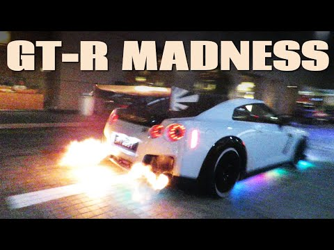 Singapore's Neon Nissan GT-R Squad | Brutal POPS and FLAMES!