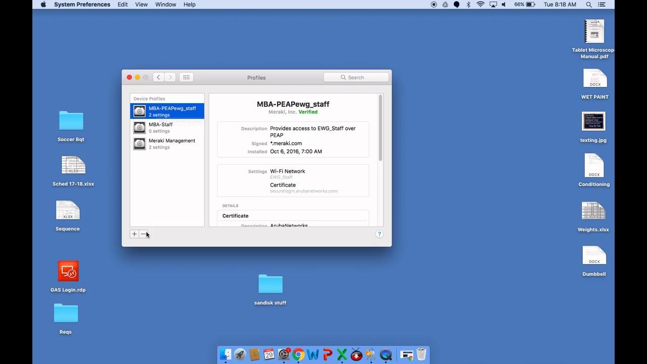 Staff Macbook Wifi Certificate Fix Youtube