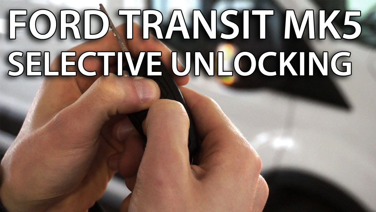 How To Activate Selective Locking In Ford Transit Mk5 Zone Central 1992 E250 Van Fuse Box Diagram Lock Safety Youtube