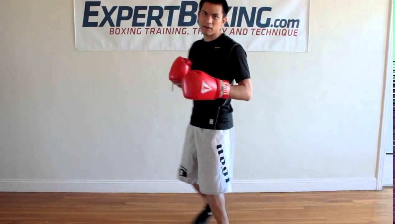 Видео - Работа ног в боксе с разворотом на ноге