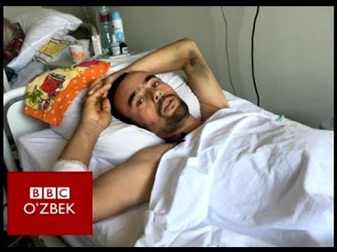 Ўзбек мигранти ичак-чавоғи осилган ҳолда шифохонадан чиқарилди - BBC O'zbek