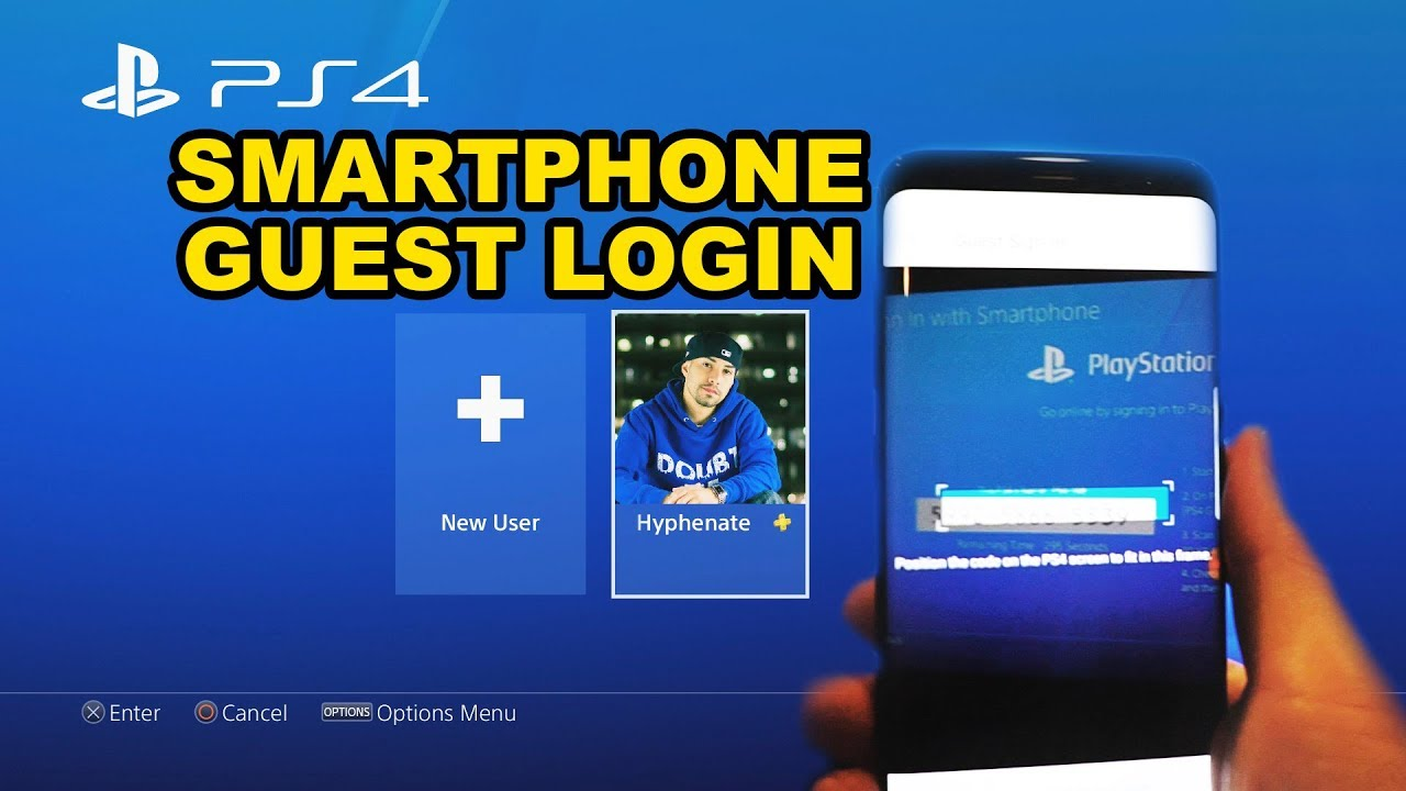 How To: PS4 Smart Phone Guest Login ( Playstation 4 PSN Account Mobile Sign  In Tutorial )