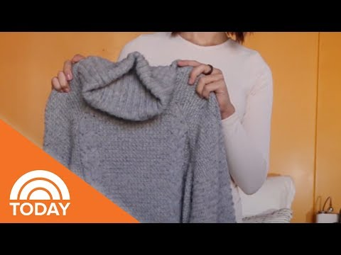 Hang Your Sweaters Without Ruining Them Using This Genius Me