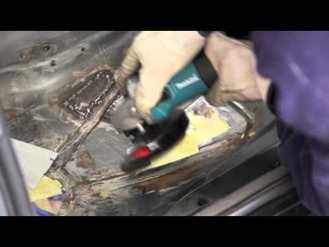 How to MIG weld a patch in car floor pan. E30 bmw.