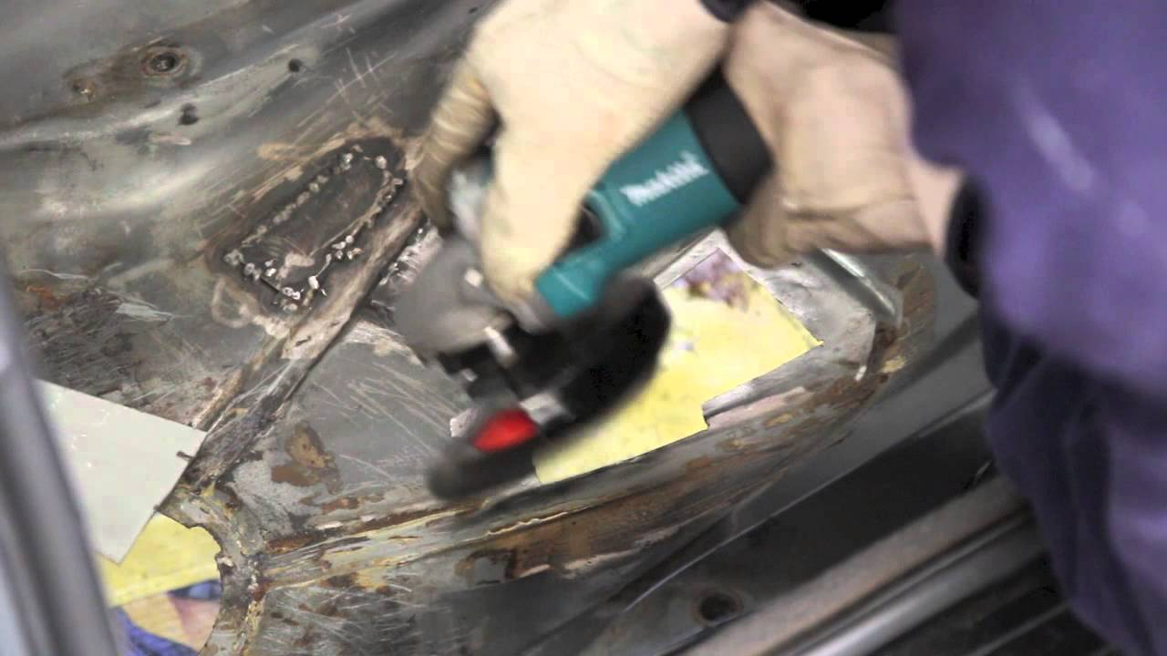 How To Mig Weld A Patch In Car Floor Pan E30 Bmw Youtube