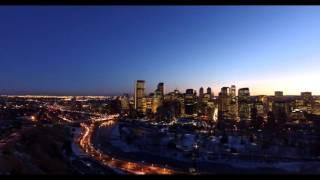 Calgary Twilight Drone Footage