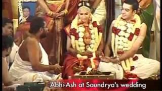 Abhi-Ash at Soundarya Rajinikanth's wedding