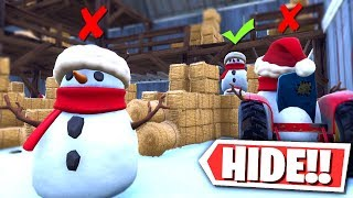 Download *NEW* SNEAKY SNOWMAN HIDE and SEEK in Fortnite Creative Mode! Mp3 and Videos