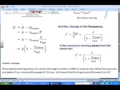 Doppler Effect Example Problems Youtube