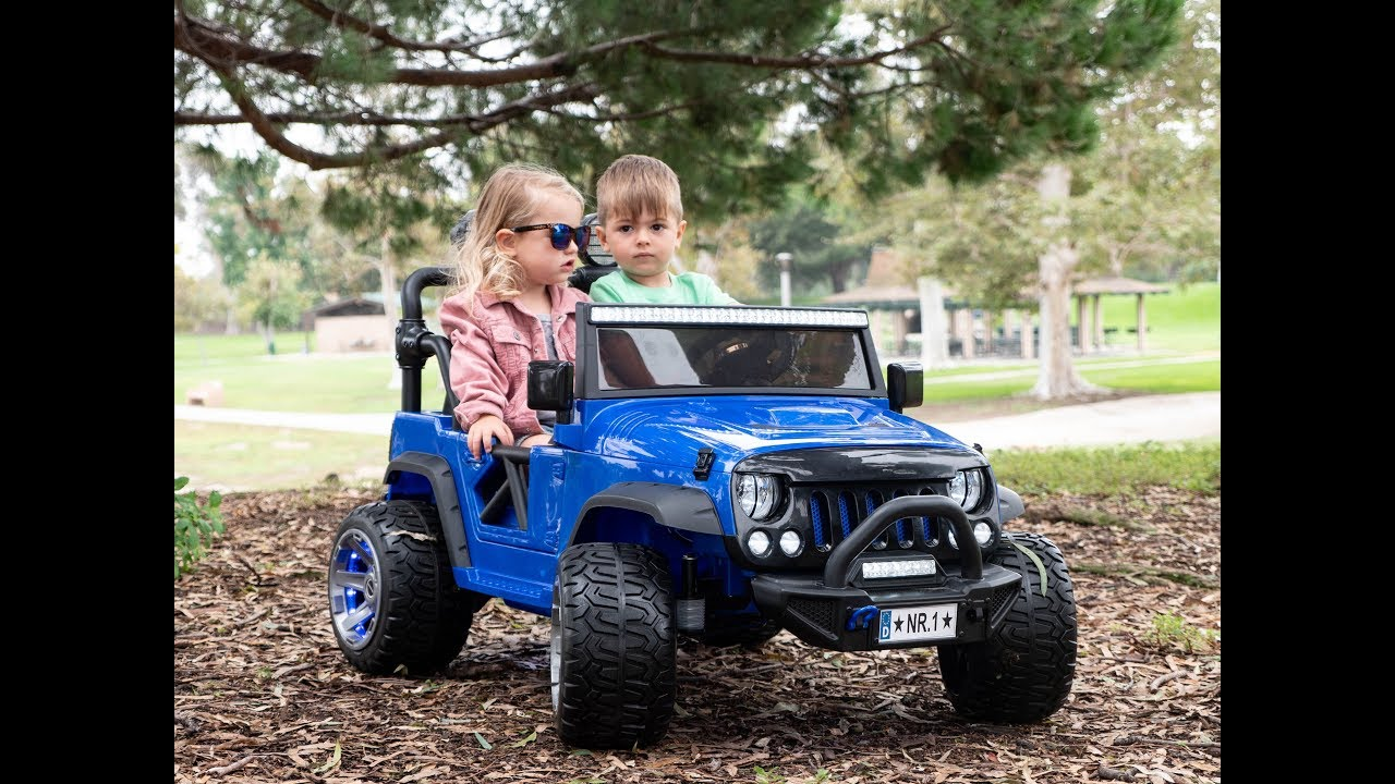 Kids Car Two Seater Explorer 12v Kids Ride On Car Truck With Rc