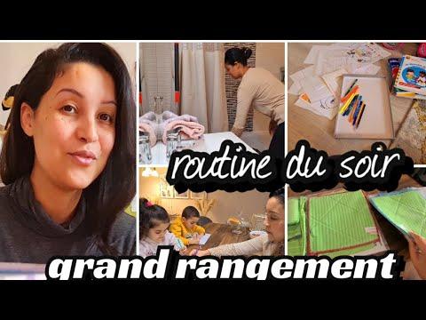 GRAND RANGEMENT / DESEMCOMBREMENT / ROUTINE DU SOIR 🌃