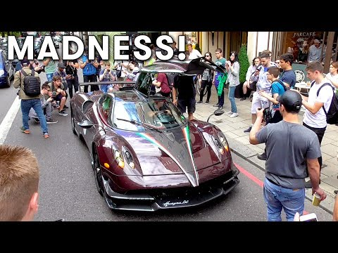 $4Million worth of Pagani Huayra TAKEOVER central London!