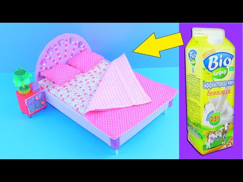 How to make a doll BED 🎀 Barbie furniture craft 🎀 DIY dollhouse
