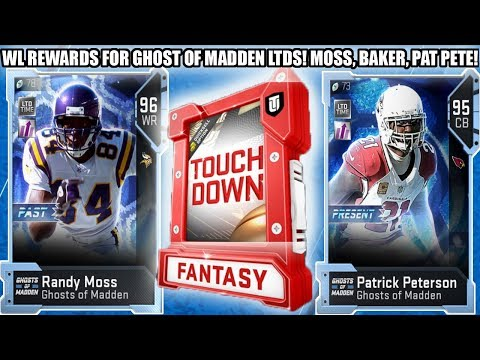 WL REWARDS FOR LIMITED TIME GHOST RANDY MOSS, PAT PETE, AND BAKER! | MADDEN 19 ULTIMATE TEAM