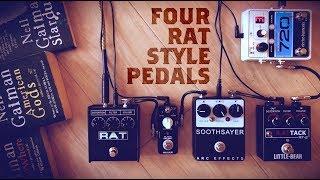 4 RAT Style Pedals (ProCo RAT 2, Mooer Black Secret, Arc Soothsayer, Little Bear R.Attack)