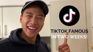 How to become TIKTOK FAMOUS in two weeks 😎