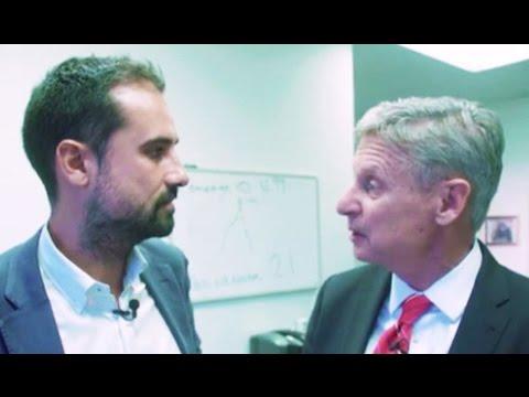 Gary Johnson MELTS DOWN On Tax Question