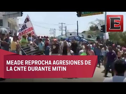 Meade culpa a AMLO por agresión durante mitin en Oaxaca