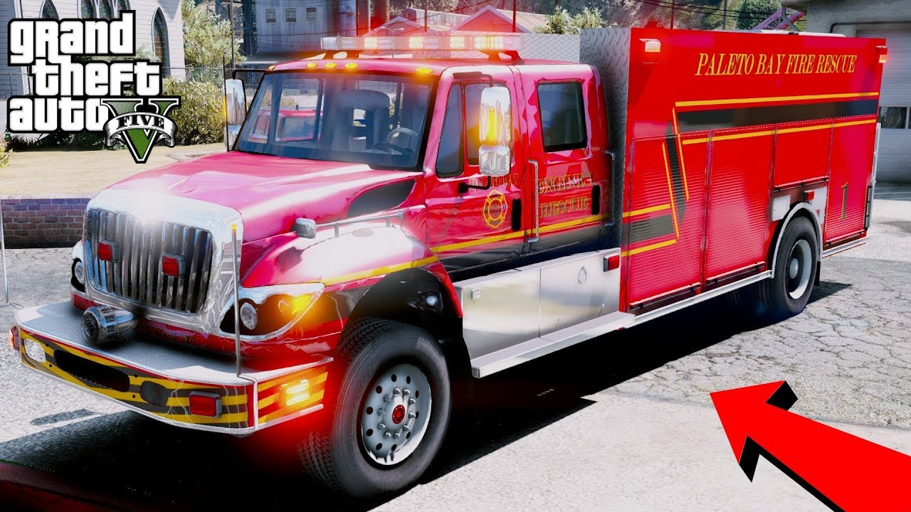 GTA 5 Firefighter Mod - New Paleto Bay Fire & Rescue Engine