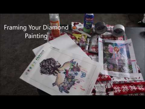 Diy 5d diamond painting framing youtube diy 5d diamond painting framing solutioingenieria Gallery
