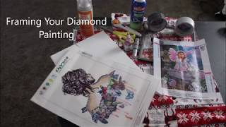 DIY 5D Diamond Painting Framing