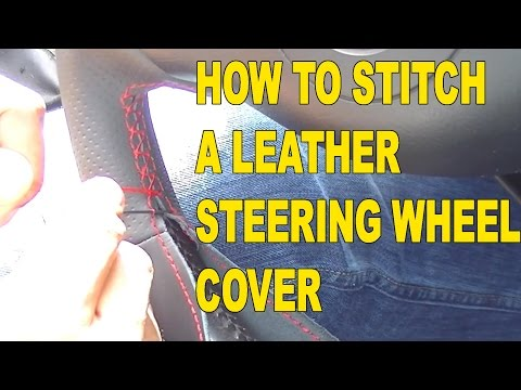 diy steering wheel cover instructions