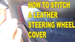 How to Stitch a Race Leather Steering Wheel Cover