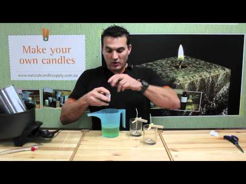 Candle Making - How to make a soy wax container candle