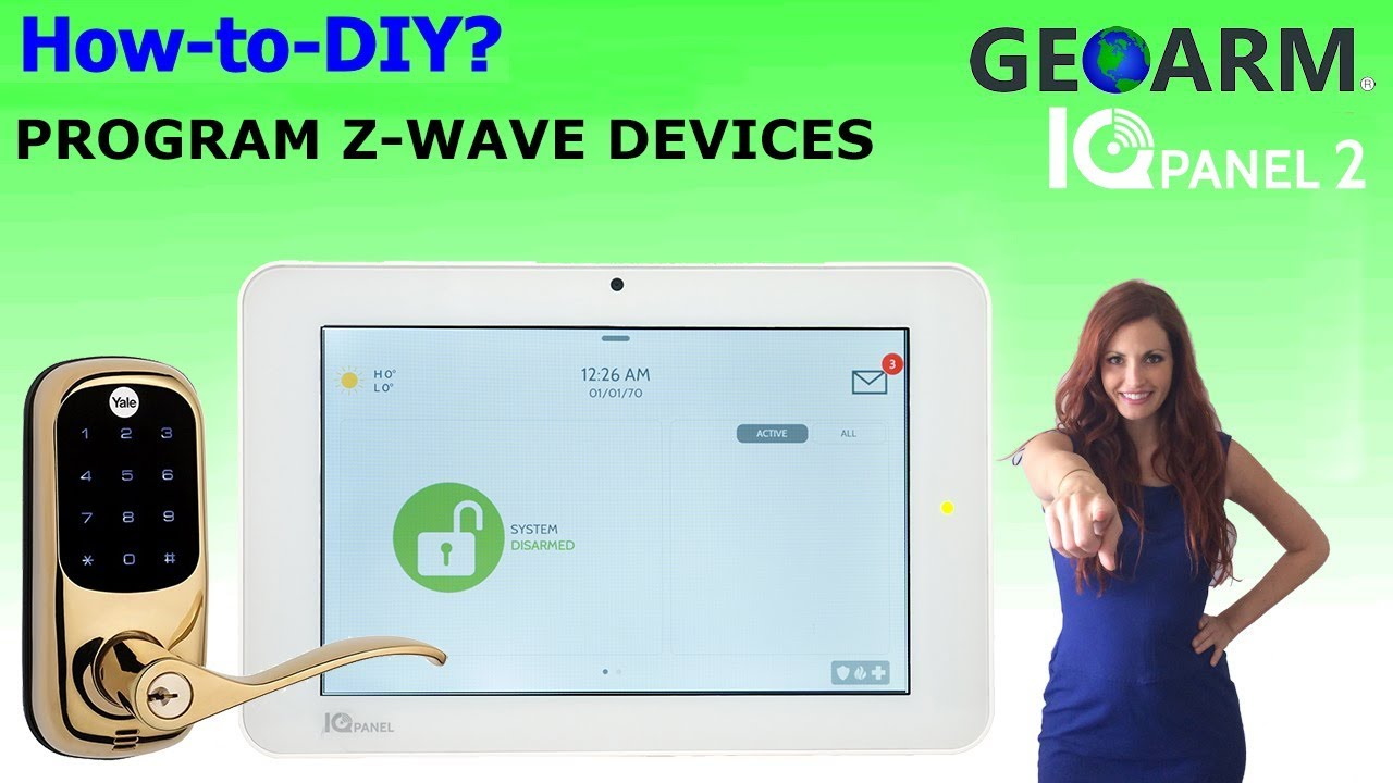 Qolsys IQ Panel 2: Installing Z-Wave Devices