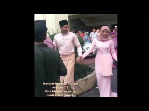 Sweet Habis Fatah Amin Protect Wife,Erat Tau Macam Ada Gam Kat Tangan Fatah!