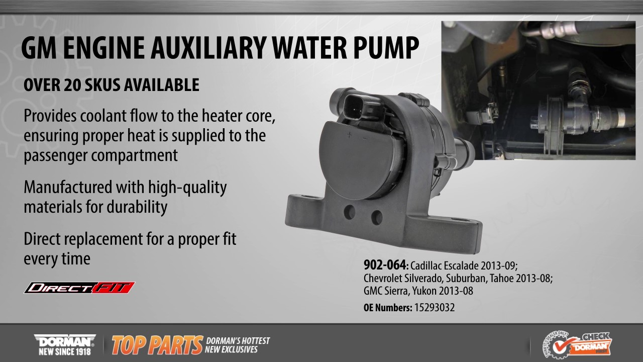 hight resolution of engine auxiliary water pump