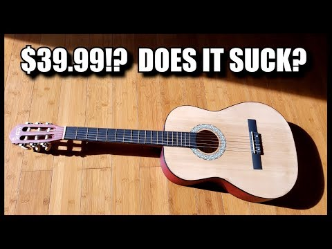 A classical guitar for $39.99 SHIPPED?  Does it suck?