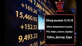 Смотреть видео Обзор рынков: Обвал америки, РТС, Нефть, Рубль, Доллар, Евро, Золото. Курс рубля, прогноз. онлайн
