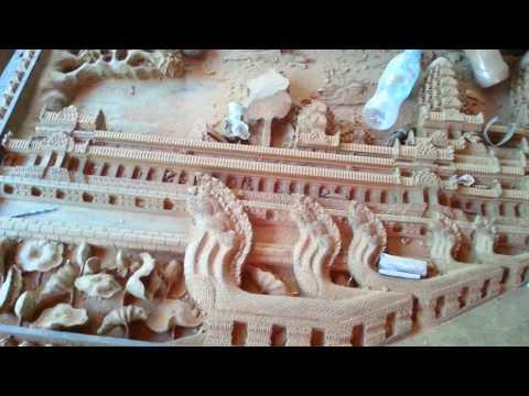 ចំលាក់ - រូបចម្លាក់ខ្មែរ - Khmer Angkor sculpture - Khmer Cambodia temple - Khmer wood sculpture