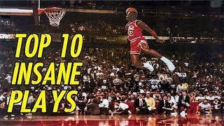 Michael Jordan 🔥 TOP 10 Best Plays In History 🔥