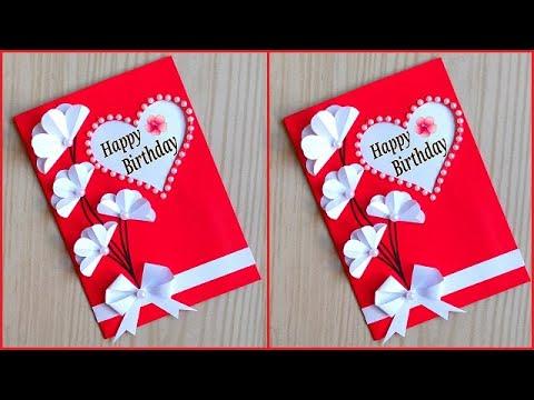 Beautiful Birthday Greeting Card Idea Handmade Birthday Greeting Card For Best Friend Youtube