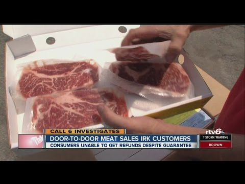 Customers have 'beef' with door-to-door meat sales company
