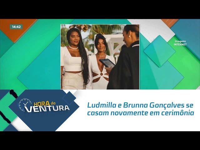 Ludmilla e Brunna Gonçalves se casam novamente em cerimônia no Caribe