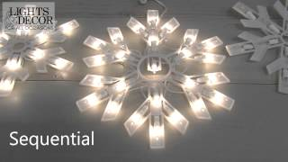 Multifunction Snowflake Icicle String Lights