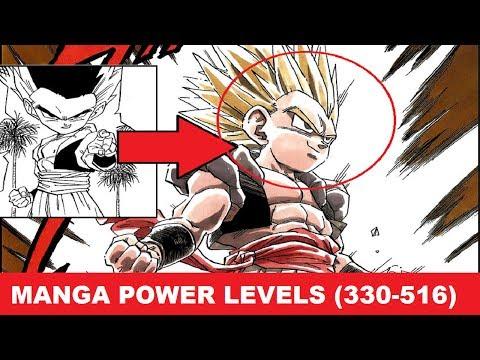 Manga Power Levels |  ドラゴンボール Z | Dragon Ball Z Power Levels All Sagas