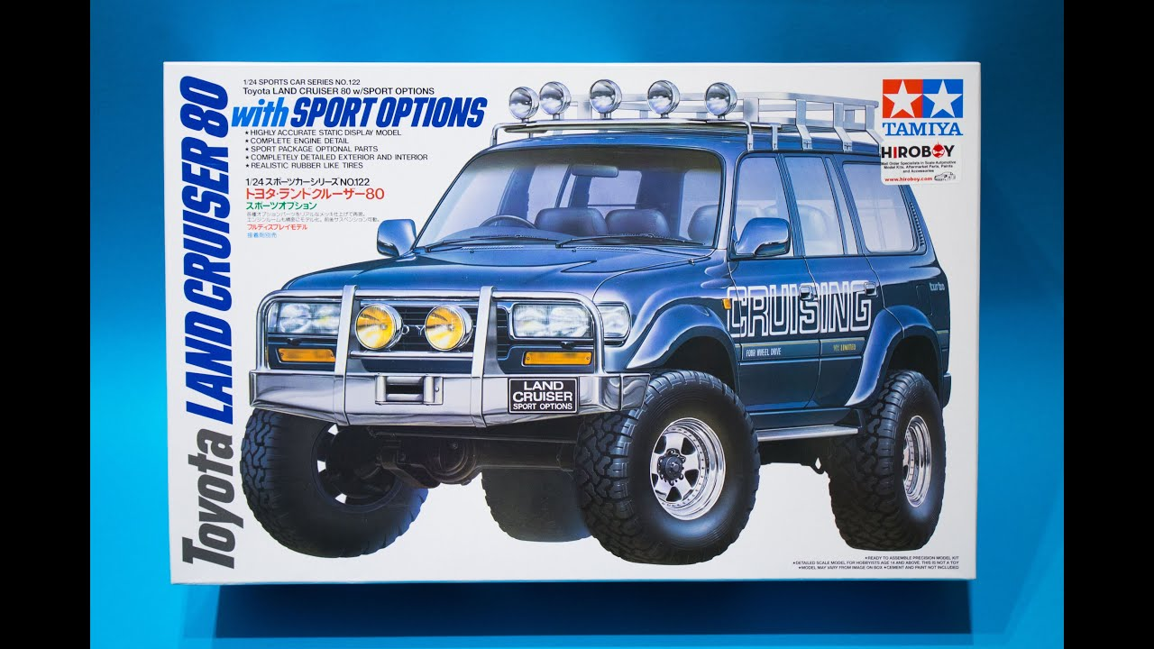 Tamiya 1 24 toyota land cruiser 80 sports options model kit review youtube
