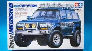 Tamiya 1/24 Toyota Land Cruiser 80 Sports Options Model Kit Review
