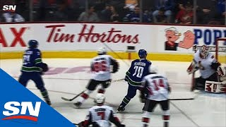 Tanner Pearson Bats Puck Out Of Air, Past Anders Nilsson