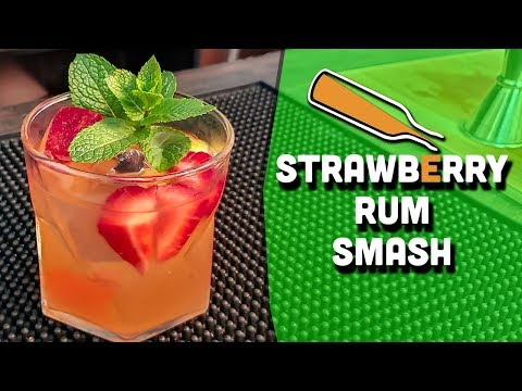 Strawberry Rum Smash Cocktail - A Fun Rum Drink Recipe